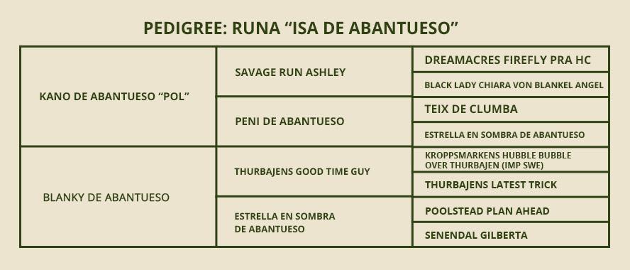 pedigree-runa