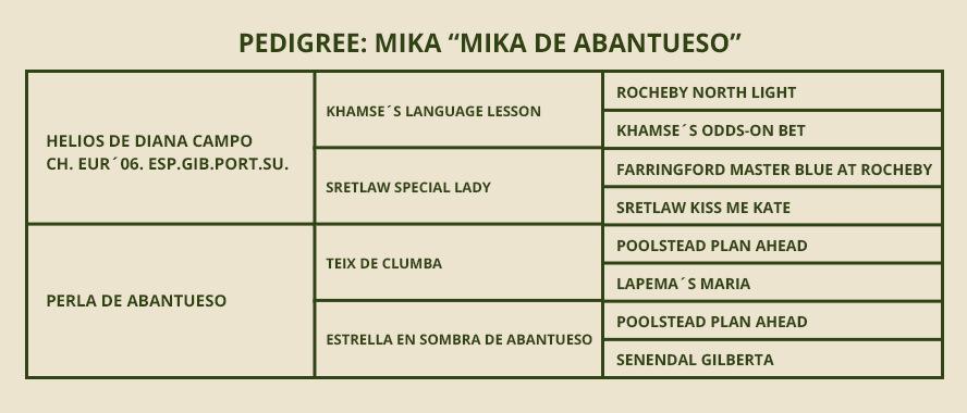 PEDIGREE-Mika